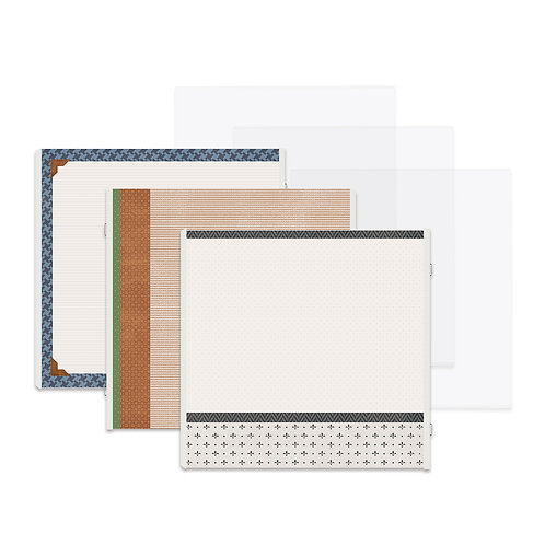 Genuine Fast2Fab™ 12x12 Refill Pages and Protectors