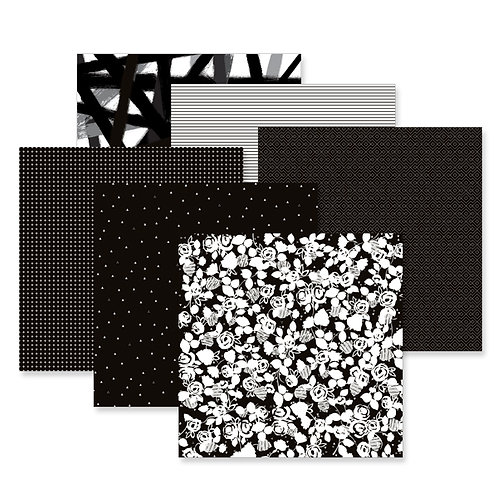 Black and White 12x12 Paper Pack (12/pk)