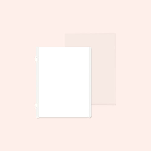 White 6.75x10 Refill Pages and Protectors