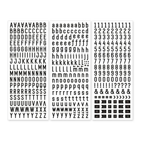 Black Sans Serif Stickers (3/pk) - Pre-Order