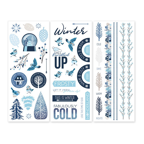 Glacier Stickers (3/pk)