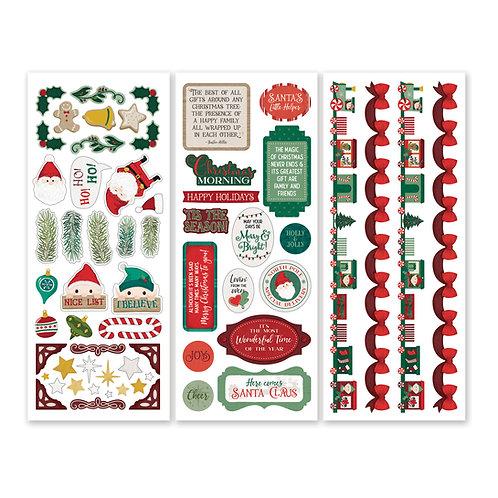 Christmas Spirit Stickers (3/pk)