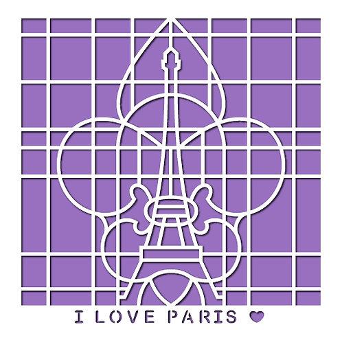 I Love Paris Stencil