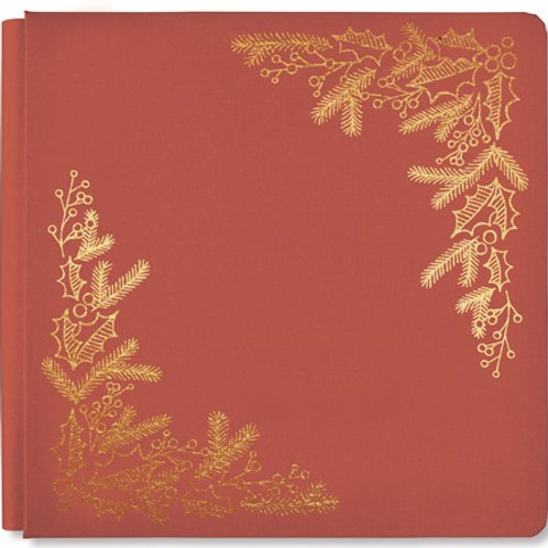 Season's Greetings Antique Red 12x12 Album Cover