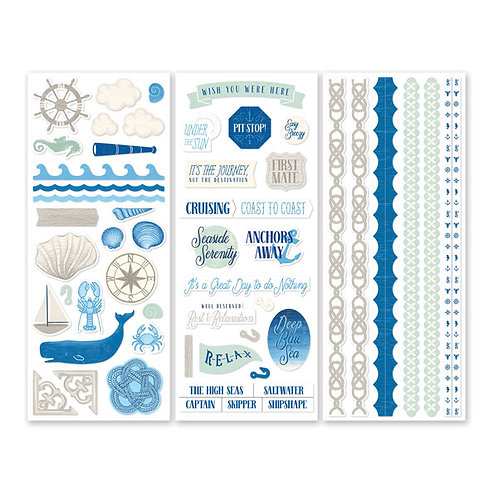Deep Blue Sea Stickers (3/pk)