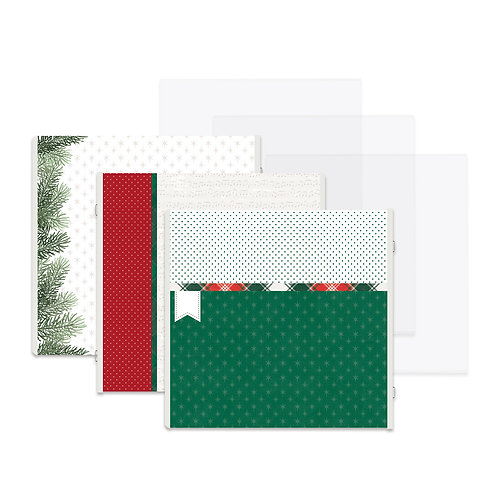 Christmas Spirit Fast2Fab™ 12x12 Refill Pages and Protectors - Pre-Order