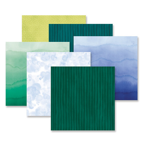 Emerald Gemstone Tone-on-Tone Paper Pack (12/pk)
