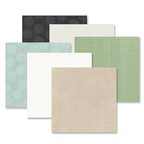 Natural Disposition Tone-on-Tone Paper Pack (12pk)