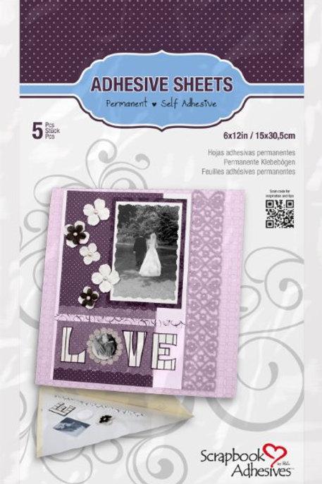 """Adhesive Sheets - 6x12"""" / 15x30.5cm (5 sheets)"""