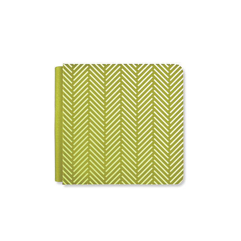 Herringbone Vintage Green 8x8 Album Cover