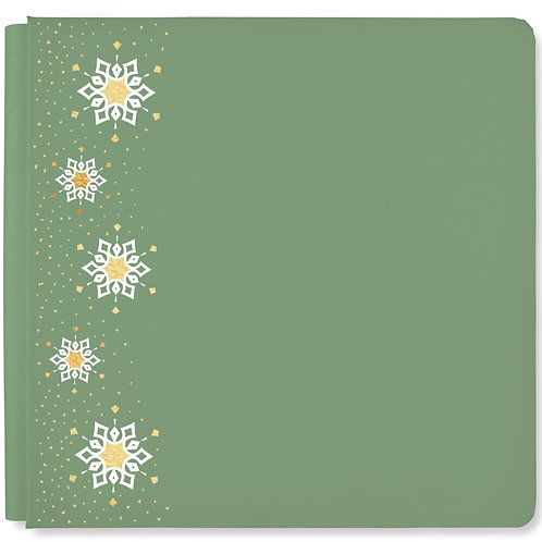 Winter Woods Spruce Green 12x12 Album Cover