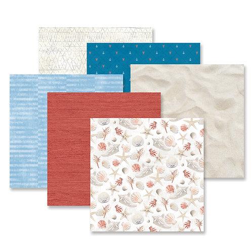 Seaside Paper Pack (12/pk)