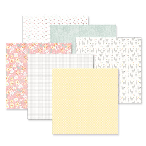 Little Lamb Girl 12x12 Paper Pack (12/pk)