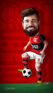 Caricature Diego Ribas 2020 - Mayo Ornel