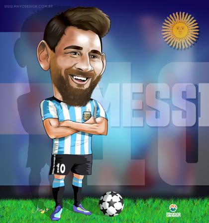 Caricatura Messi