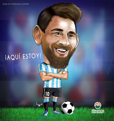 Caricatura Messi - Mayo Ornelas