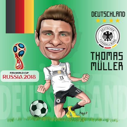 Thomas Müller Caricature