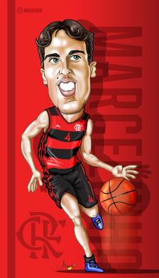 Caricatura Marcelinho Machado