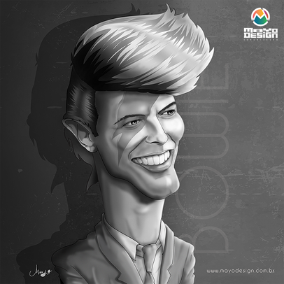 Caricatura David Bowie