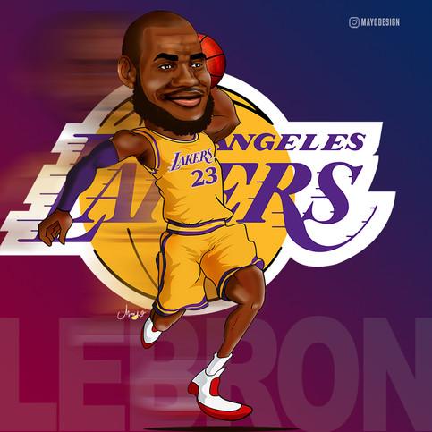 Caricatura LeBron James