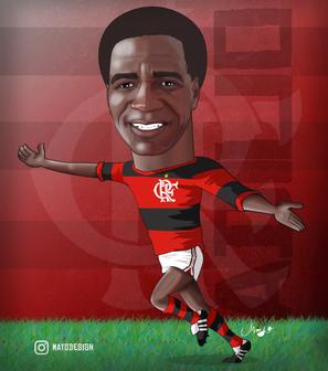 Caricatura Adílio (Flamengo)
