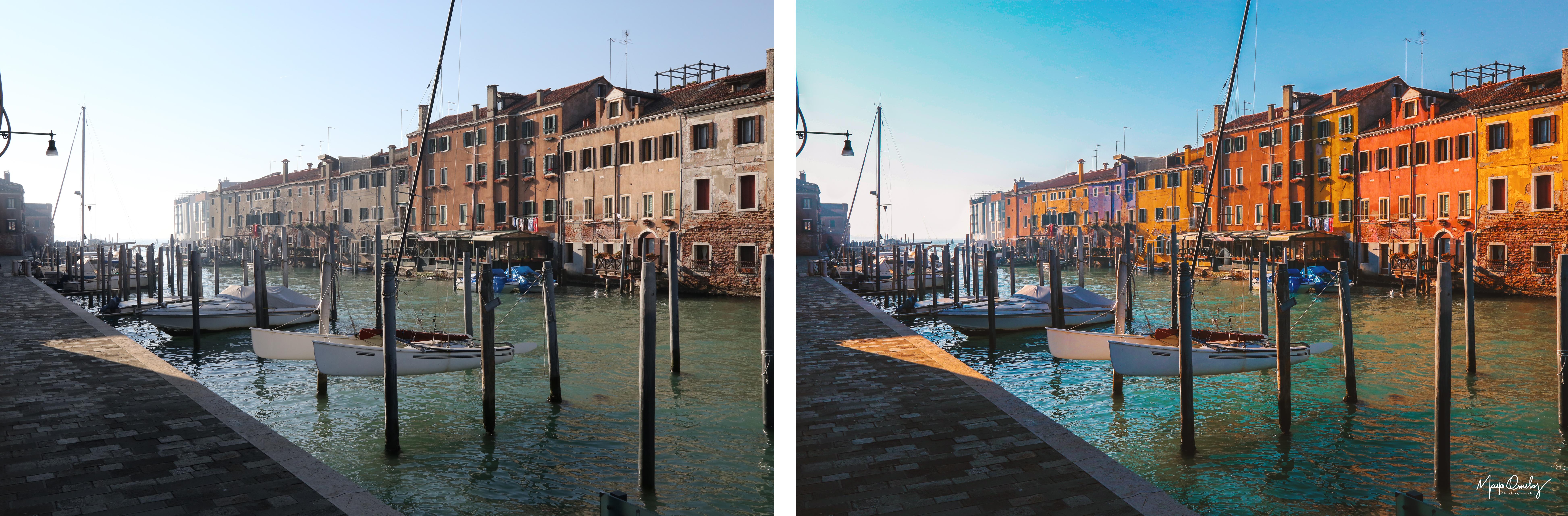 Antes e Depois Burano Itália