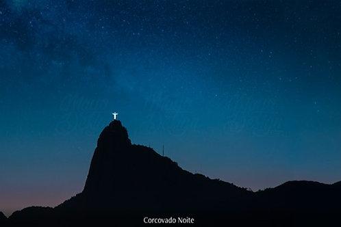 Fotografia impressa Corcovado a noite