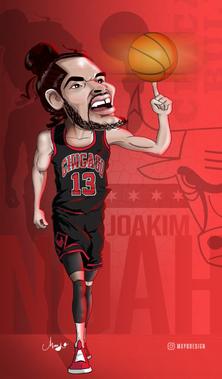 Joakim Noah Caricature
