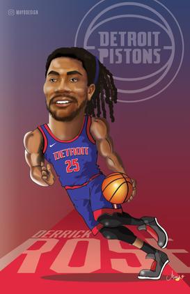 Derrick Rose Caricature