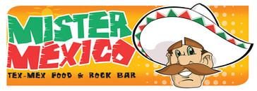 Logo Mister Mexico com Personagem