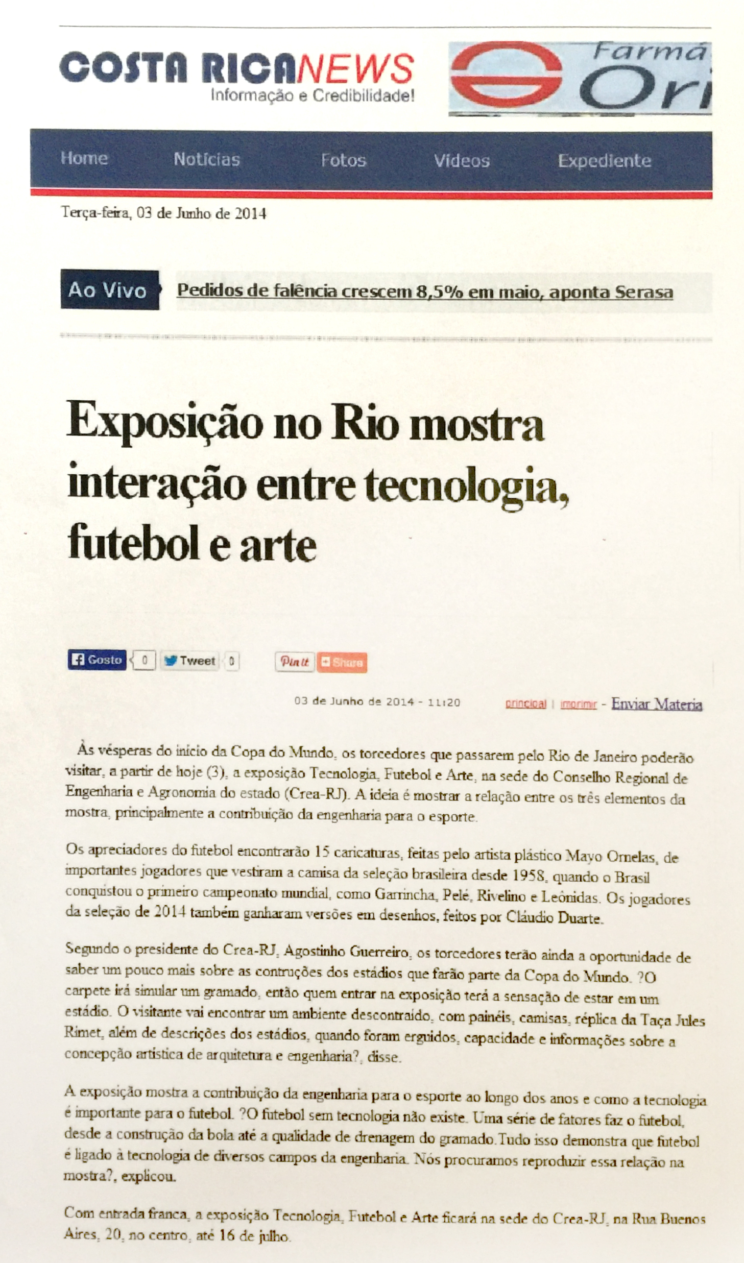 Jornal Costa Rica News