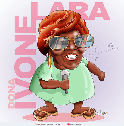 Caricature DONA IVONE LARA