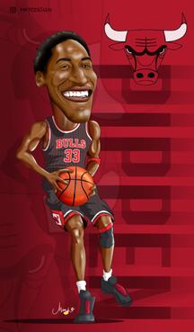 Pippen Caricature