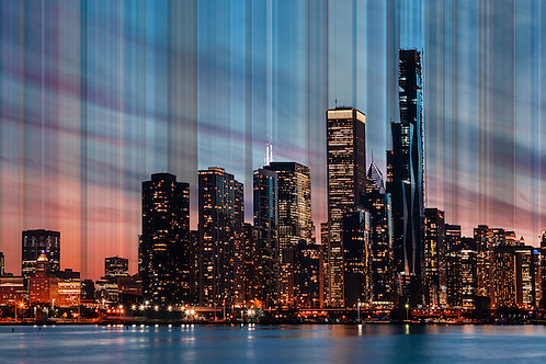 Fine Art 'City Sunset Lights'