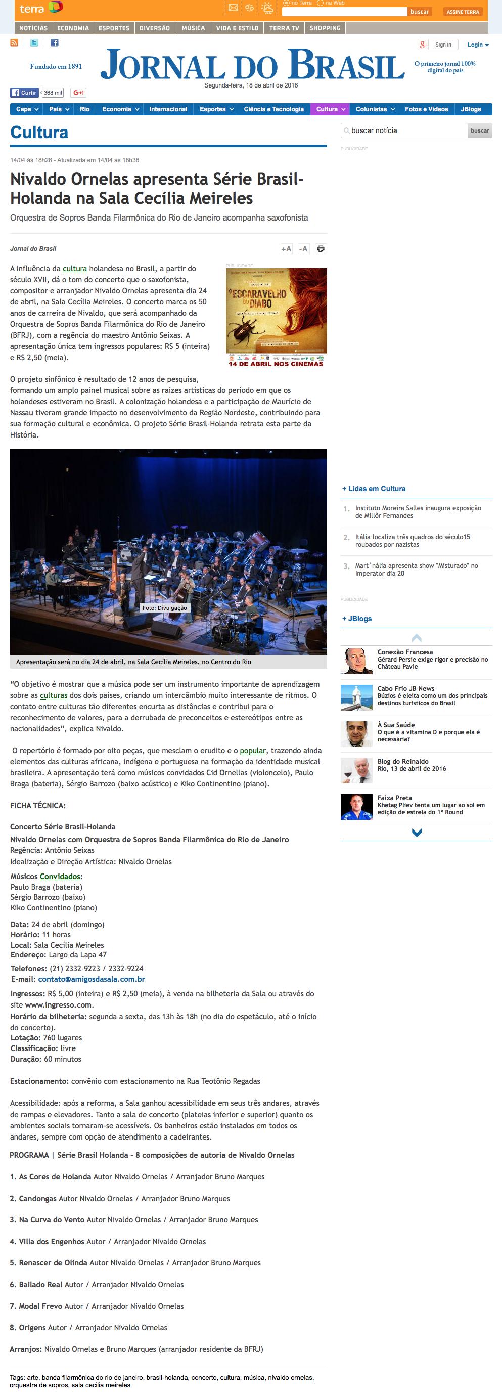 Materia Jornal do Brasil