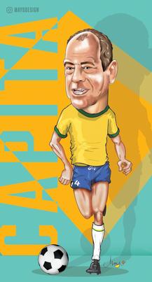 Caricatura Carlos Alberto Torres