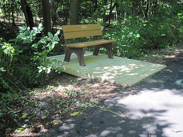 4 ft donor bench installation, FM Heartland Trail