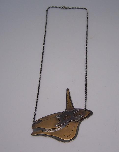 Unicorn Skull Necklace