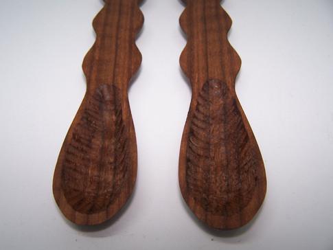 Turned Walnut Spoons