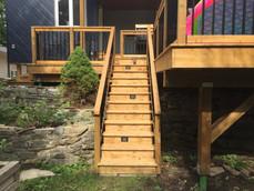Custom Deck Staircase