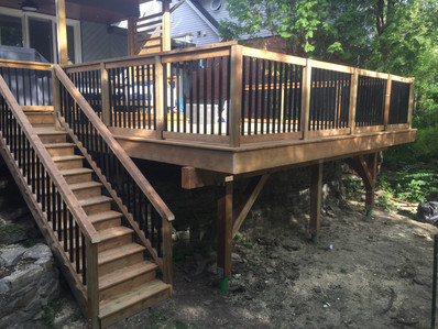 Large Custom Deck Over Stone