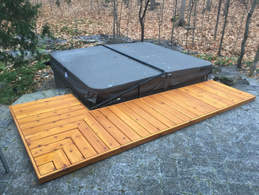 Floating Cedar Deck