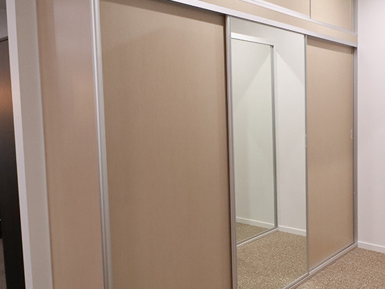 Melamine and Mirrored Robe Sliding doors