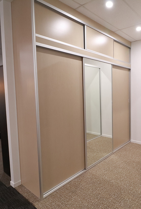 Melamine and Mirrored Robe Sliding doors