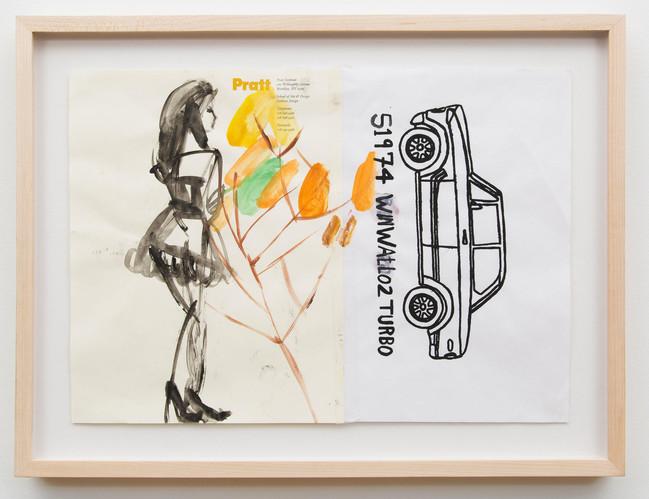Car & Girl & Flowers by Susan Cianciolo
