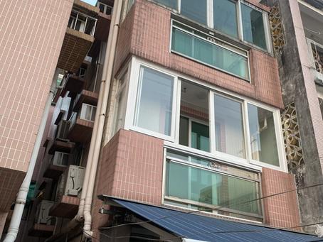 丁屋中層,2樓,露台工程,露台門 ,蚊網,舊式圍村