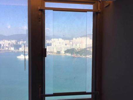 無敵海景又怎可以比窗花遮住