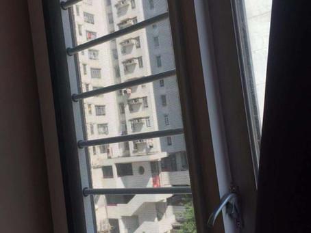 新款防護桿蚊網連窗花