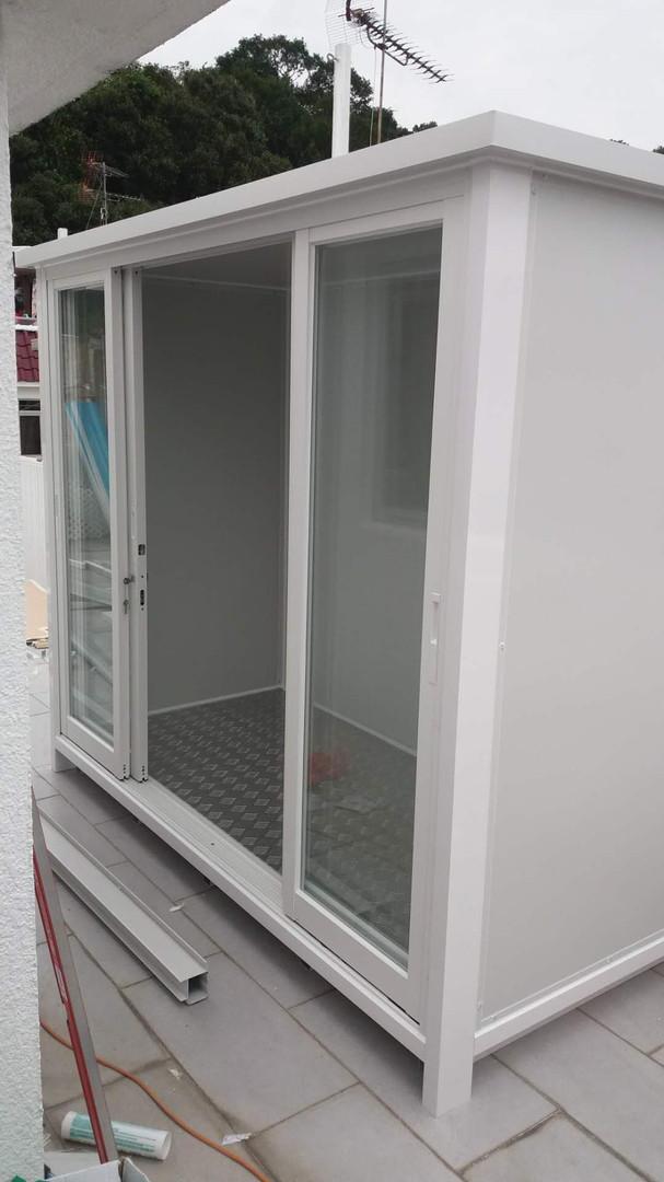 組合屋 玻璃門 趟門 掩門