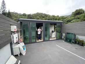 太陽能屋頂加圍封